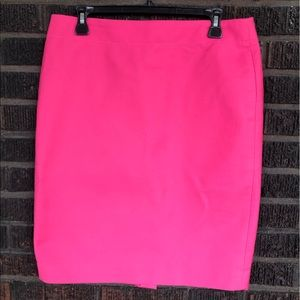 NWT J.Crew No. 2 Pencil Skirt (Neon Pink)